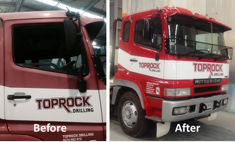 Nano Clear Toprock Truck Before and After
